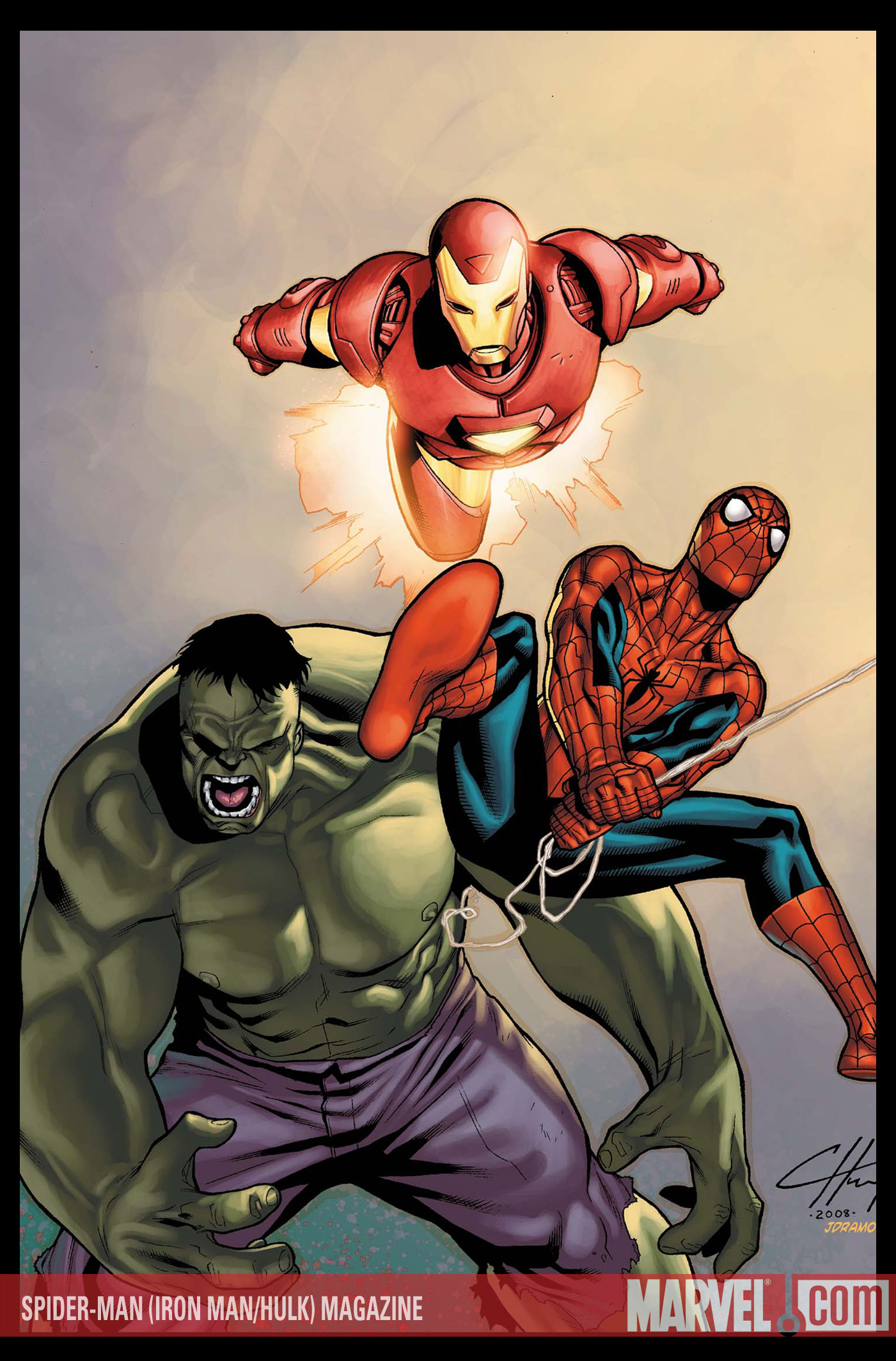 Marvel in april 2008 part 1 marvel universe comic box - Spiderman ironman and hulk ...