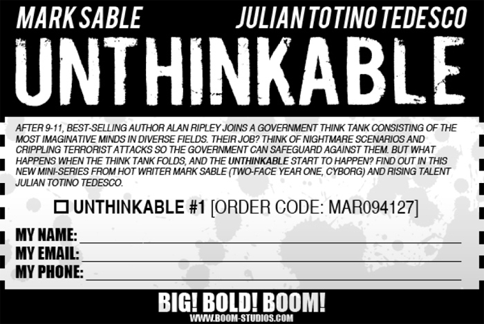 unthinkable #1 bulletin