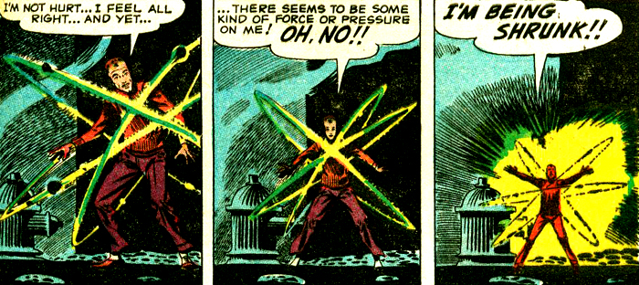 La scène de la miniaturisation de Mark Coren devrait être familière à beaucoup de lecteurs de comics...