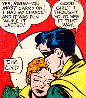 Dupée, Roberta/Mary en est presque à remercier Robin de lui avoir donné sa chance...