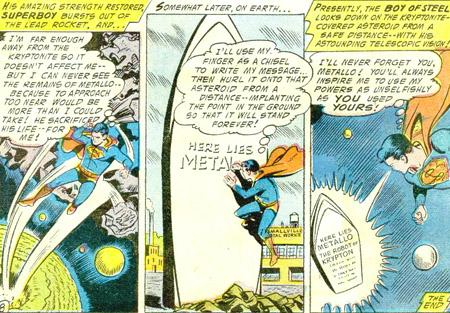Superboy rend hommage à Metallo