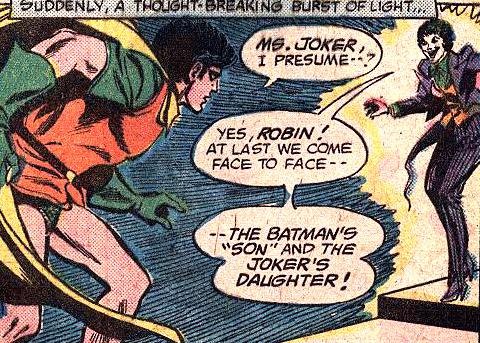 Fils de Batman contre Fille du Joker