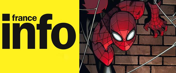 Amazing Spider-Man et Comic Box sur France Info